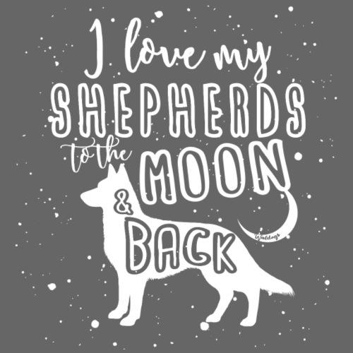 White Shep Moon - Miesten premium t-paita