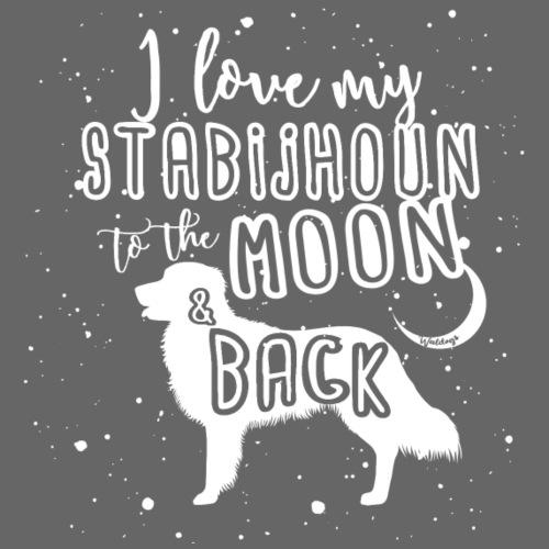 Stabijhoun Moon - Miesten premium t-paita