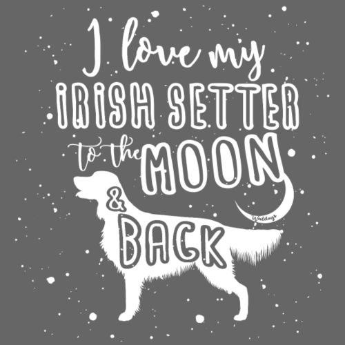 Irish Setter Moon 3 - Miesten premium t-paita