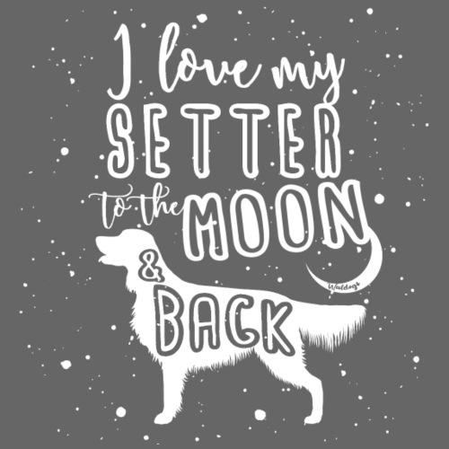 Irish Setter Moon 2 - Miesten premium t-paita