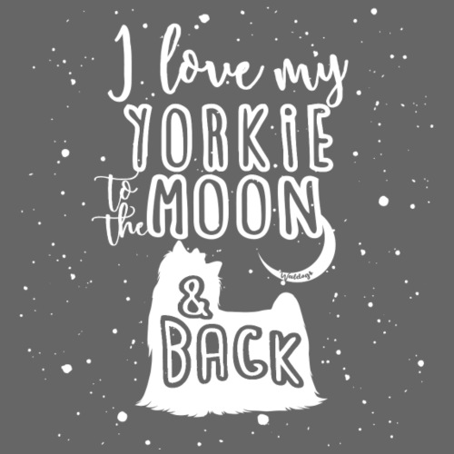 Yorkshire Terrier Moon - Miesten premium t-paita