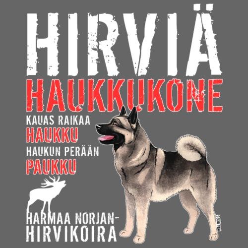 Norjanharmaa Haukkukone 2 - Miesten premium t-paita