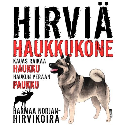 Norjanharmaa Haukkukone 3 - Miesten premium t-paita