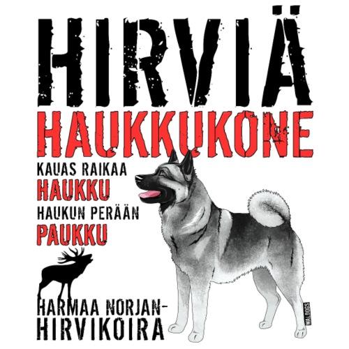 Norjanharmaa Haukkukone 4 - Miesten premium t-paita