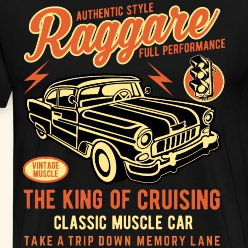 Raggare Vintage Custom Car T Shirt Design - Männer Premium T-Shirt