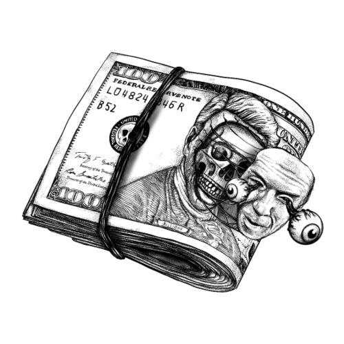 Dollar face off - Camiseta premium hombre