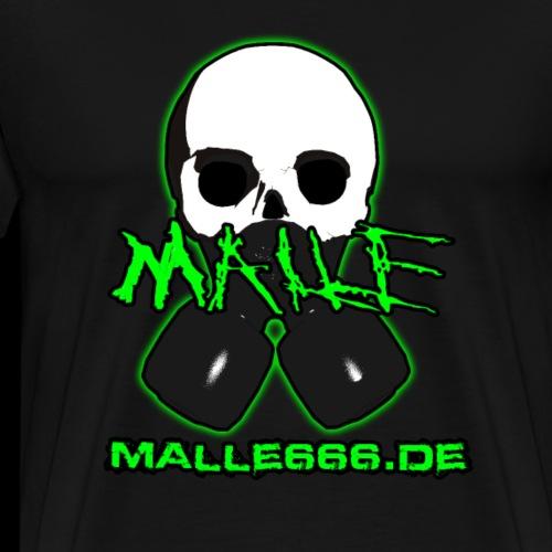 Malle666.de Logo Groß - Männer Premium T-Shirt