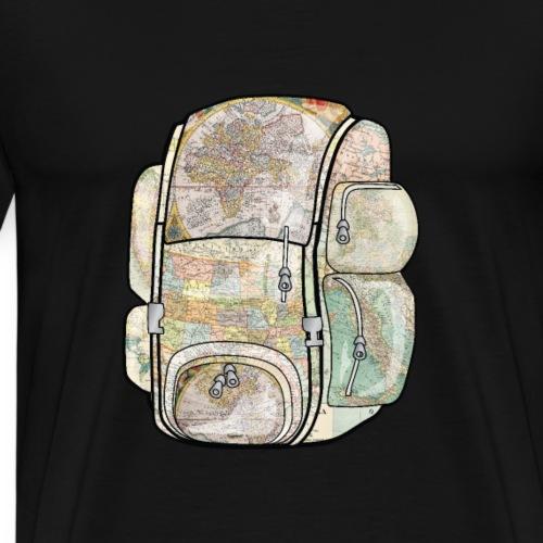 Vintage Maps Travel Backpack - Men's Premium T-Shirt