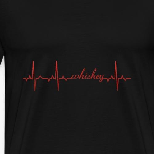EKG Whiskey writing - Men's Premium T-Shirt