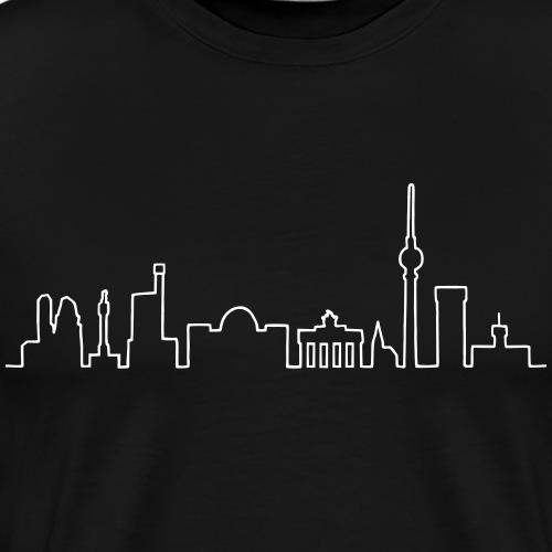 Skyline Berlin - Mannen Premium T-shirt