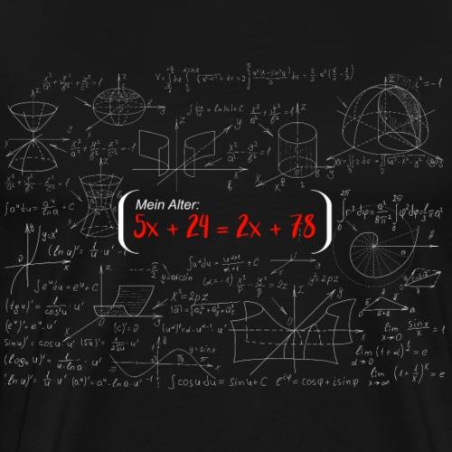 T-Shirt 18. Geburtstag Mathematische Gleichung