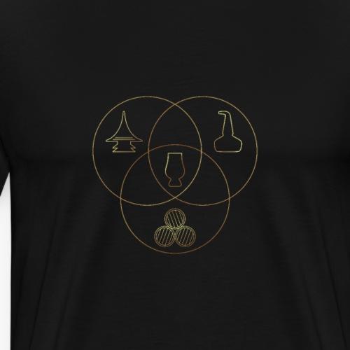 Whisky Making Venn diagram - Men's Premium T-Shirt