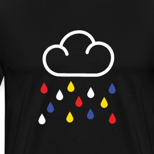 The Rain of Mondrian - Men's Premium T-Shirt