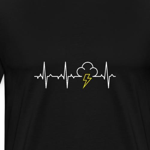 Heartbeat Lightning Strike - Men's Premium T-Shirt