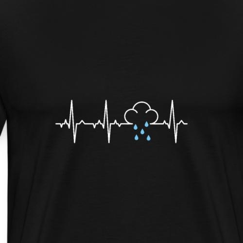 Heartbeat Raincloud EKG - Men's Premium T-Shirt