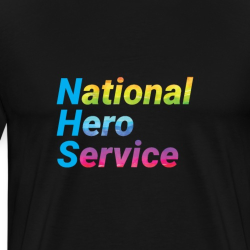 National Hero Service Rainbow - Men's Premium T-Shirt