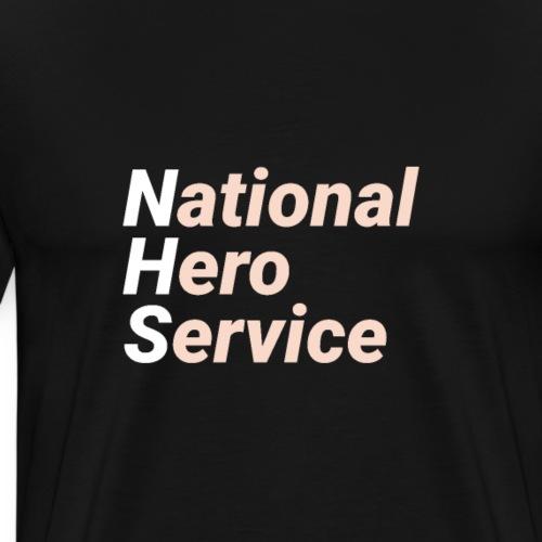 National Hero Service - Peach - Men's Premium T-Shirt