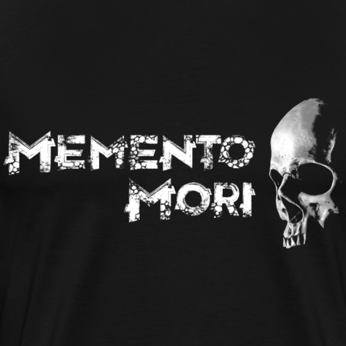 Memento Mori, Totenschädel mit Vintage Schrift - Männer Premium T-Shirt