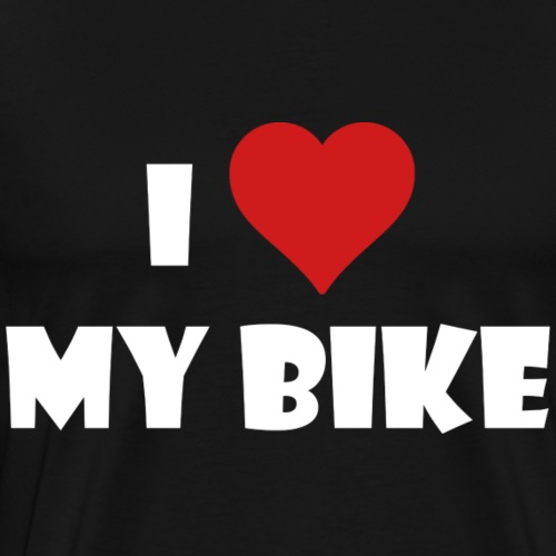 I LOVE BIKE - Koszulka męska Premium