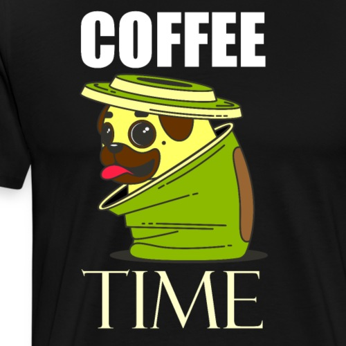 Bulldog Francés, perros y café son tus pasiones - Camiseta premium hombre
