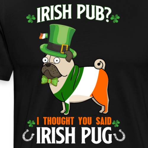 Bulldog Francés Irlandés Para Dia San de Patricio - Camiseta premium hombre