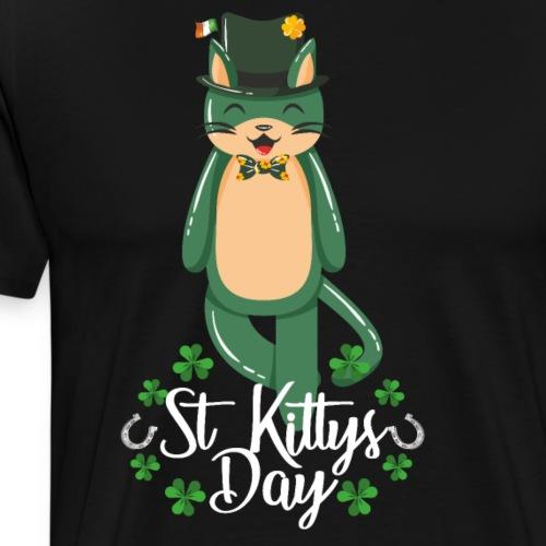 Tu gato también celebra el Día de San Patricio - Camiseta premium hombre