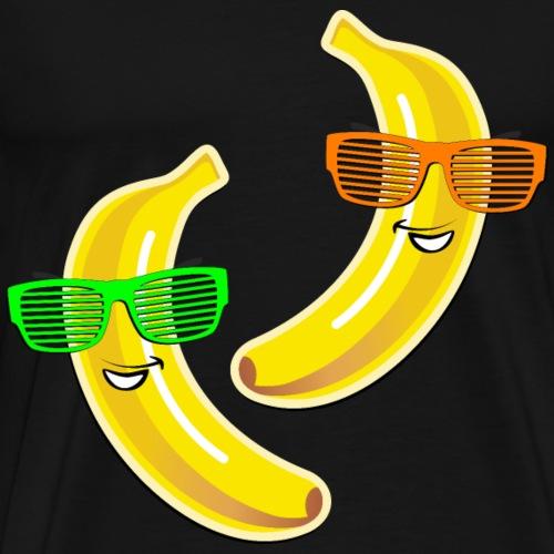 coole Bananen Sonnenbrille Sommer Party Liebe Love - Men's Premium T-Shirt