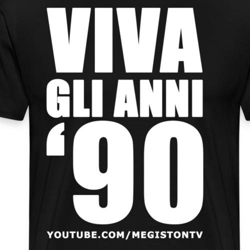 Viva gli Anni '90 Bianco - Maglietta Premium da uomo