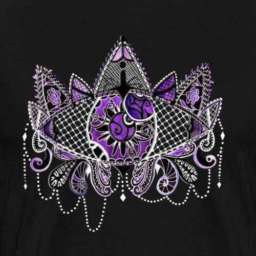 Oeil dentelle Violet Version Noir - T-shirt Premium Homme
