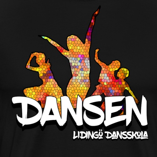 Dansen Mosaik - Premium-T-shirt herr