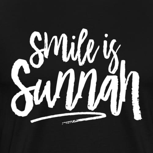 Smile is sunnah (white) - Men's Premium T-Shirt