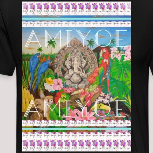 ganesha&flowers - Camiseta premium hombre