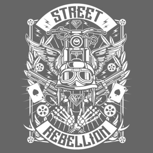 Motorrad Shirt - Street Rebellion (weiß) - Männer Premium T-Shirt