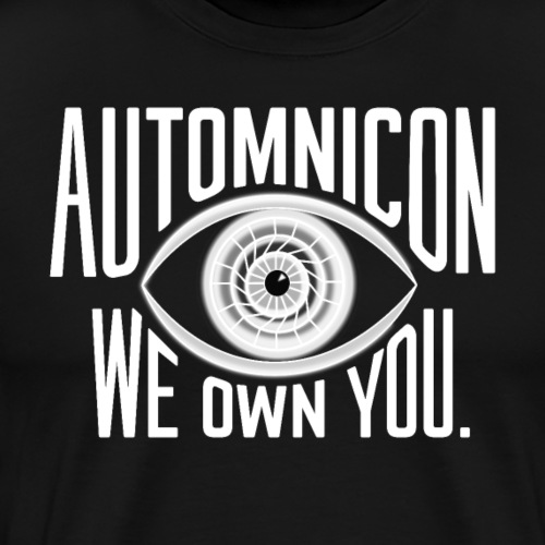 White Automnicon Logo - Men's Premium T-Shirt