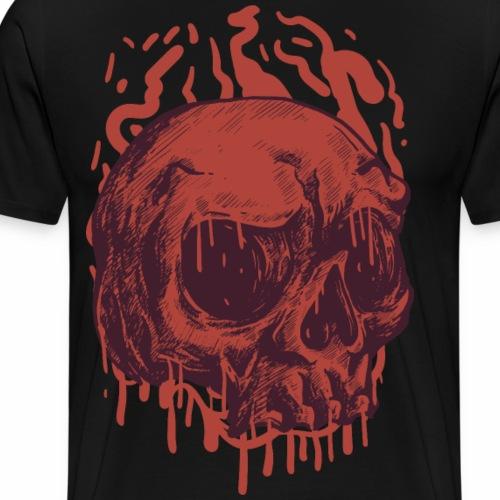 Bloody Skull - Miesten premium t-paita