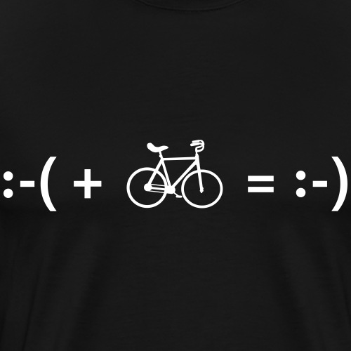 Kunstrad Emoji - Männer Premium T-Shirt