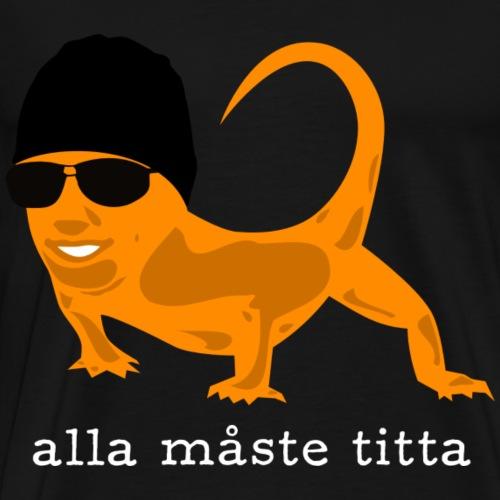 Reptil - Alla måste titta - Premium-T-shirt herr