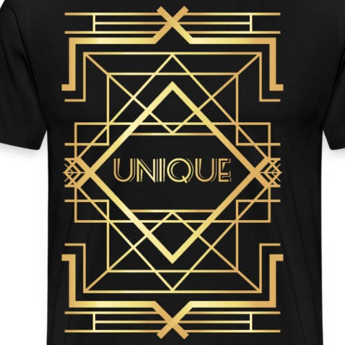 First Golden Geometric - Men's Premium T-Shirt