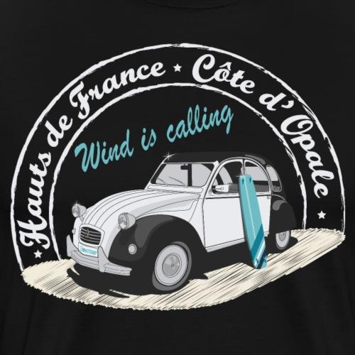 2CV - Wind is calling II ( Le vent m'appelle!) - T-shirt Premium Homme