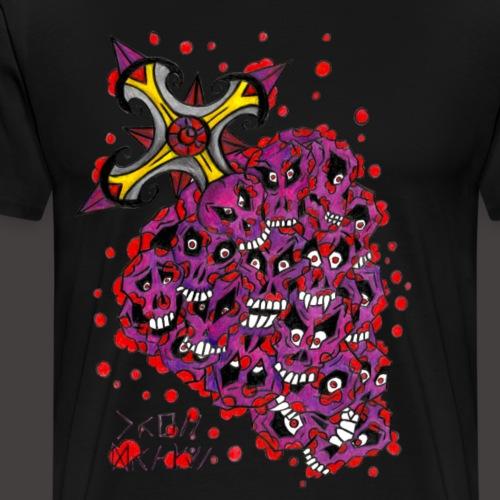 Cross Grapes - T-shirt Premium Homme