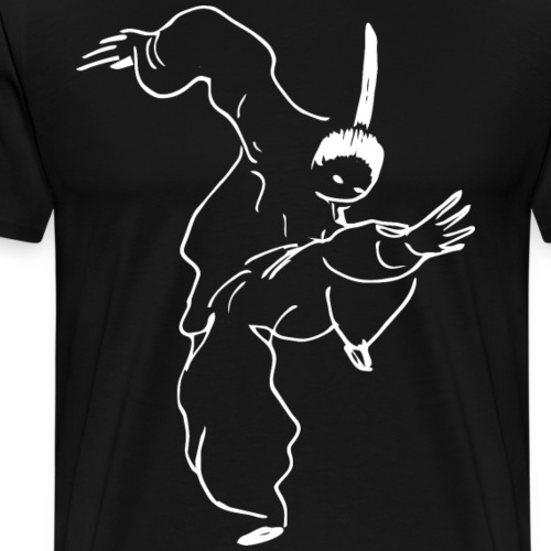 Kung Fu fighter / white - Men's Premium T-Shirt