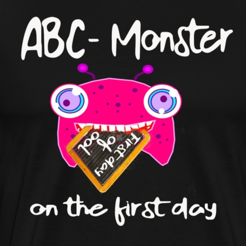 ABC Monster on the first day#white
