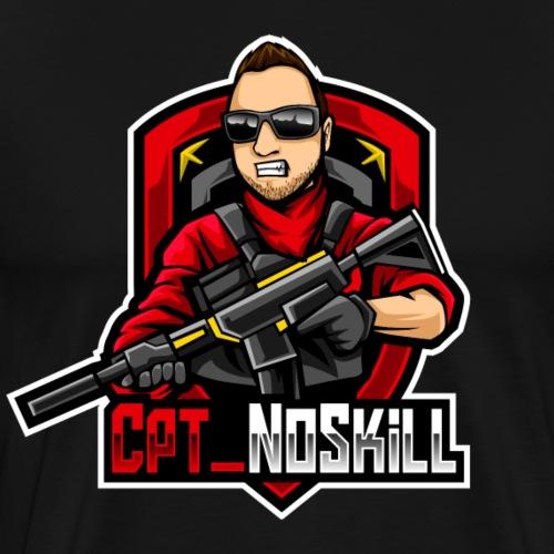 Cpt_NoSkill Logo Rot - Männer Premium T-Shirt