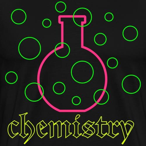 Chemistry, bottle and bubbles - Mannen Premium T-shirt