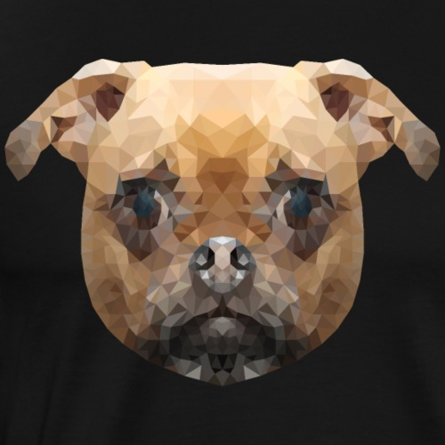 Mops Polygon Low Poly Hund - Männer Premium T-Shirt
