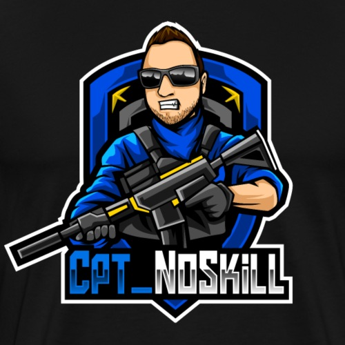 Cpt_NoSkill Logo Blau - Männer Premium T-Shirt