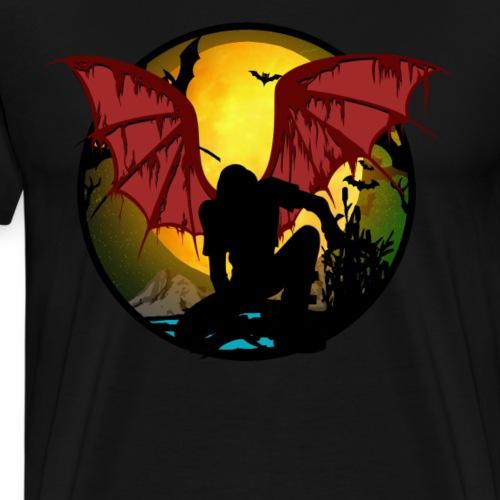 Halloween Fledermensch - Männer Premium T-Shirt