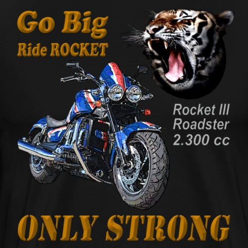 Go Big – ride Rocket - Rocket III Roadster blue - Männer Premium T-Shirt