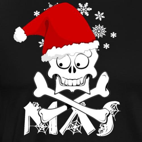 xmas skull - Männer Premium T-Shirt