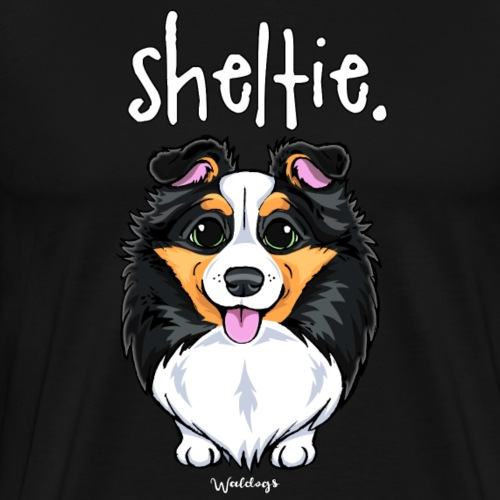 Sheltie Dog Cute 6 - Men's Premium T-Shirt
